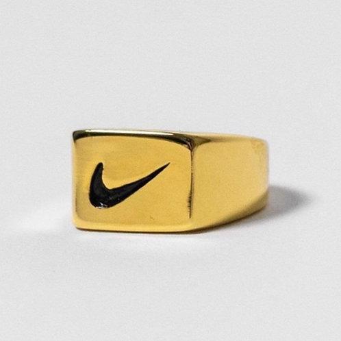 Nike Square Swoosh Ring Gold