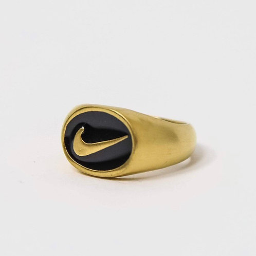 Nike Oval Swoosh Ring Gold