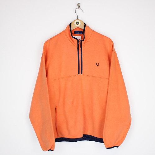 Vintage Fred Perry 1/4 Zip Sweatshirt Large