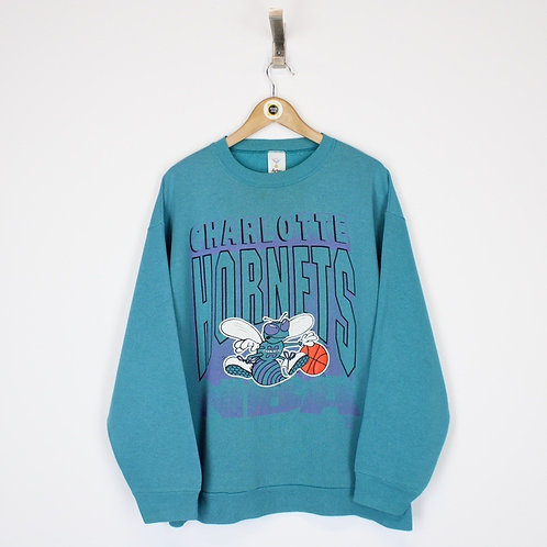 Vintage Charlotte Hornets NBA Sweatshirt Large