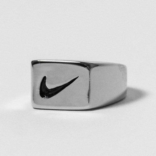 Nike Square Swoosh Ring Silver
