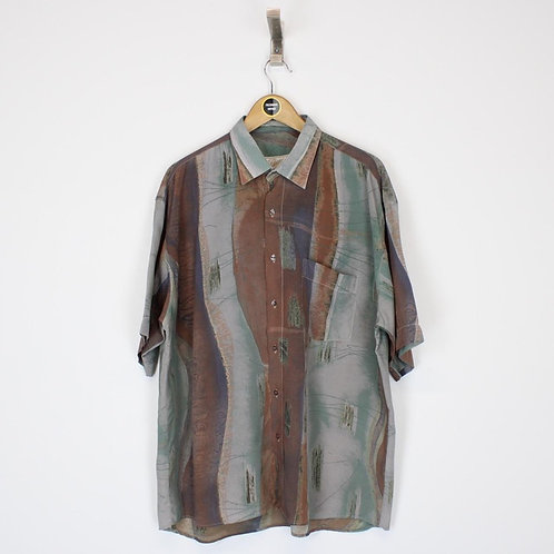 Vintage Populer Silk Shirt XL