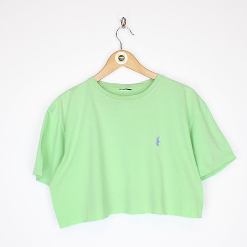 Vintage Polo Ralph Lauren Cropped T-Shirt Medium