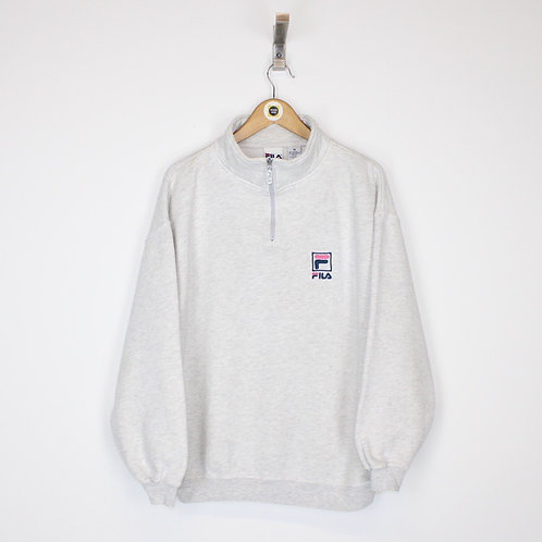 Vintage Fila 1/4 Zip Sweatshirt Medium