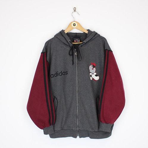 Vintage Adidas Hoodie Jacket Small