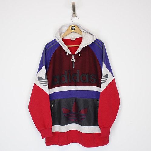 Vintage 80's Adidas Hoodie Large