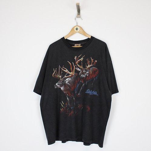 Vintage Reindeer Graphic T-Shirt XXL