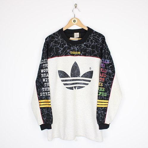 Rare Vintage 80's Adidas Sweatshirt Large