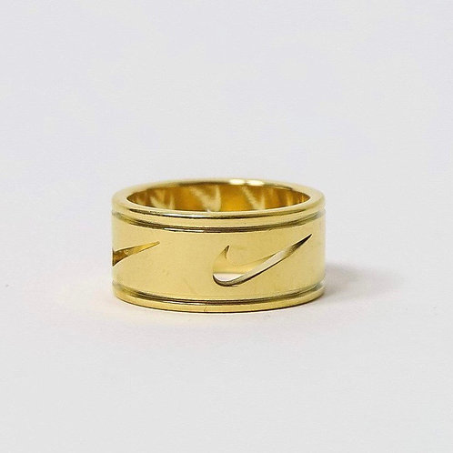 Nike Multi Cut Out Swoosh Ring Gold