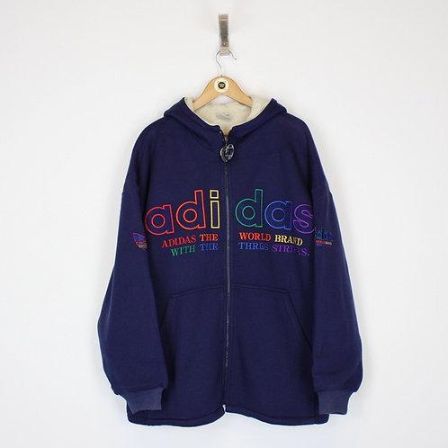 Vintage Adidas Hoodie Jacket XL