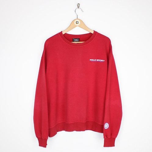 Vintage 90's Polo Sport Sweatshirt Medium