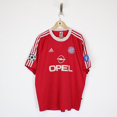 Vintage 2000/01 Adidas Bayern Munich Shirt XL