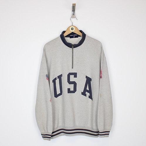 Vintage Polo Ralph Lauren 1/4 Zip Sweatshirt Large