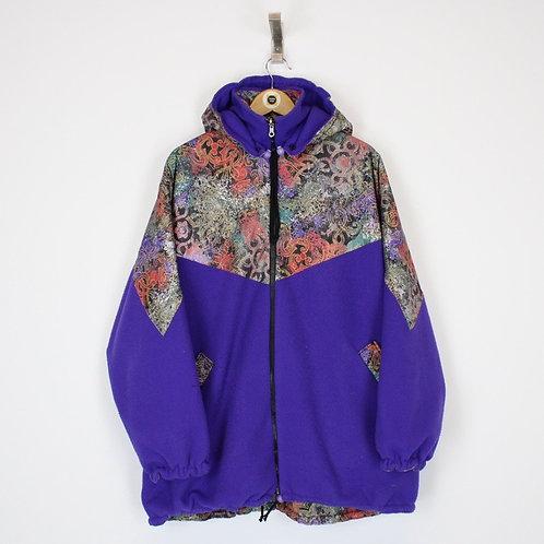 Vintage Abstract Fleece Jacket XXL