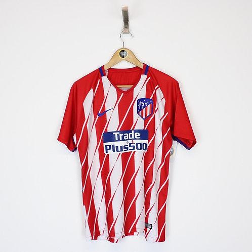 Vintage 2017/18 Atletico Madrid Shirt Small