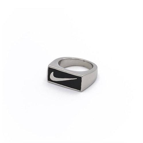 Nike Block Swoosh Ring Silver/Black