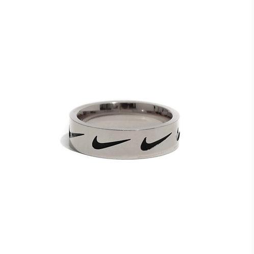 Nike Repeat Swoosh Ring Silver
