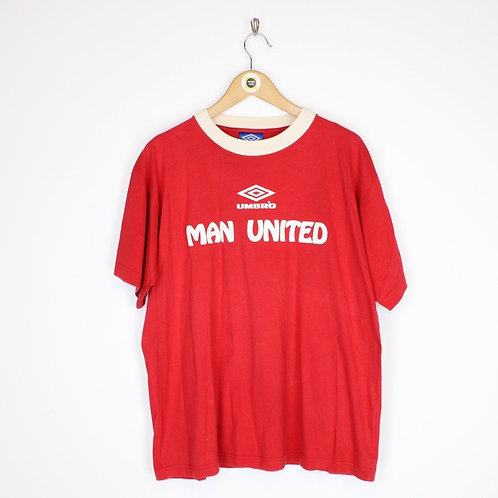 Vintage Umbro Man Utd T-Shirt Medium