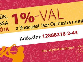 Kérjük, támogassa adója 1 %-val a Budapest Jazz Orchestra munkáját!