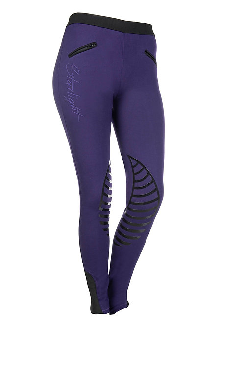 HKM Riding Leggins Starlight with Silicone Knee Edging