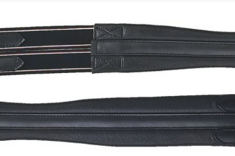 HKM Soft Leather Girth with Elasticated Inserts