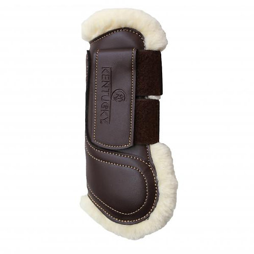 Kentucky Sheepskin Leather Tendon Boots Hook And Loop