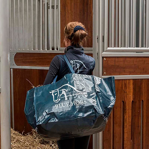 Blue Hors Hay Bag