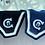Thumbnail: Casa Borrell Blå Ørehette med glitter model Squard