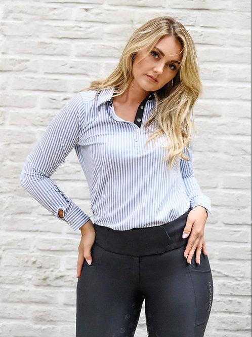 PS of Sweden skjorte -Polo iris stripe