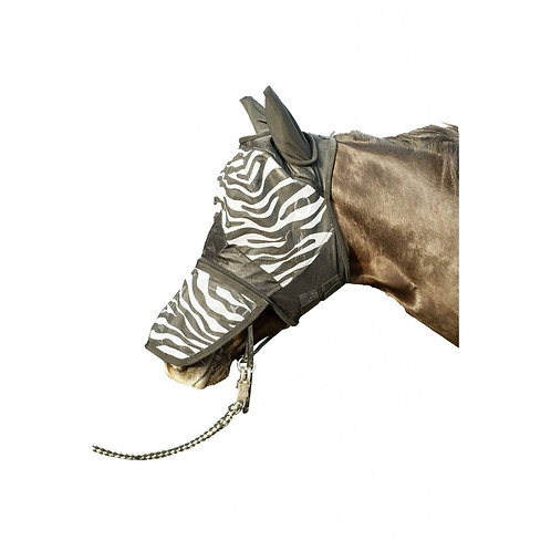 HKM-Sport Anti-Fly Mask Zebra