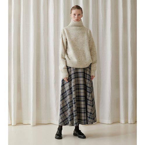 Skall Studio Caro Skirt, brown + navy check