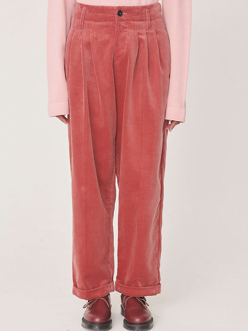 YMC Keaton Cotton Cord Trousers, pink