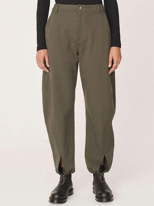YMC Liz Viscose Cotton Twill Trousers, olive