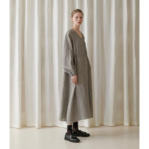 Skall Studio Maggie Dress, grey check