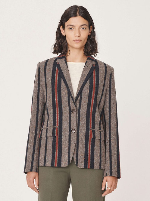 YMC Diane Blazer, blanket wool stripe