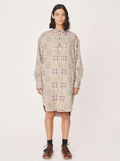 YMC 79 Cotton Check Flannel Dress, multi