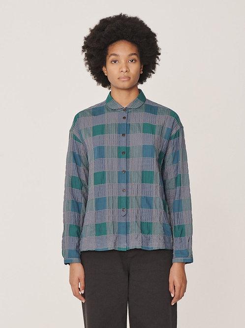YMC Marianne Cotton Herringbone Shirt, multi check