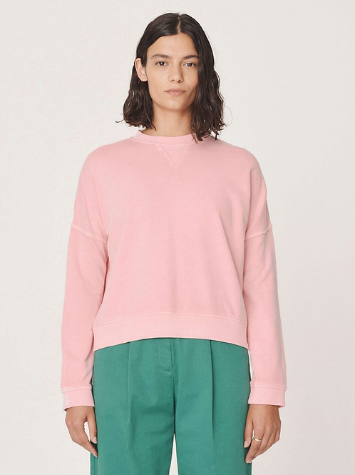 YMC Almost Grown Cotton Loopback Sweatshirt, pink
