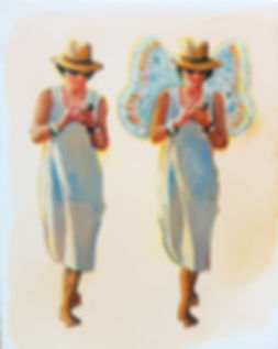 The butterfly woman: Sometimes you talk and I do notlisten? It's all because in me wings of a butterfly GrewIn a dreams blink of an eye.