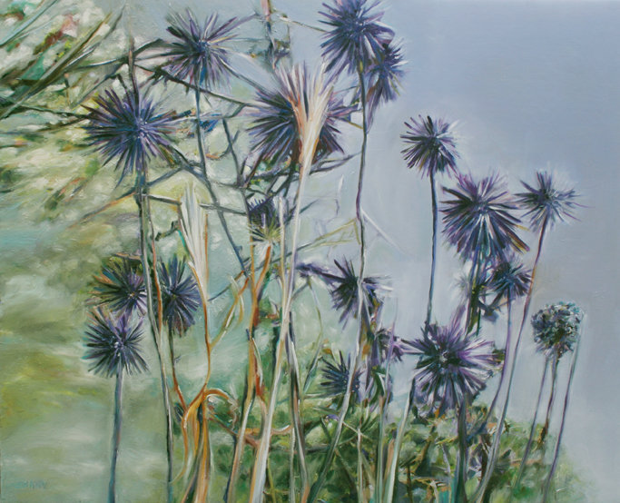 Nurit Shany, Purple summer flowers 1, oi