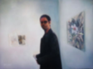 The Art Lover, oil on canvas 140x100cm