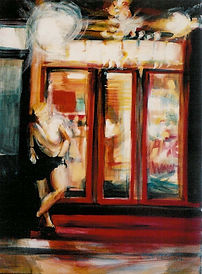nurit shany -   'Shop windows', oil on canvas, 2004   See page: paintings 2000 - 2008