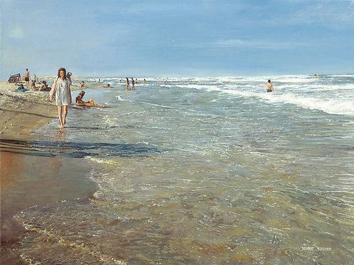 Sea Shore 521 - A woman in white