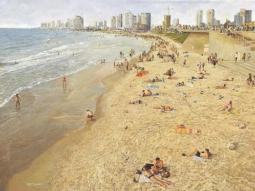 Tel Aviv Sea Shore_ no 522_ 100X100cm