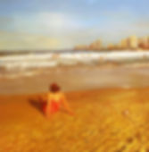 nurit shany - Tel Aviv sea shore, oil on canvas, 2014 see page:Oil painting 2012-2014