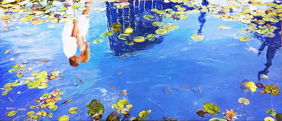 A reflextion of a kiss, water lili ponds