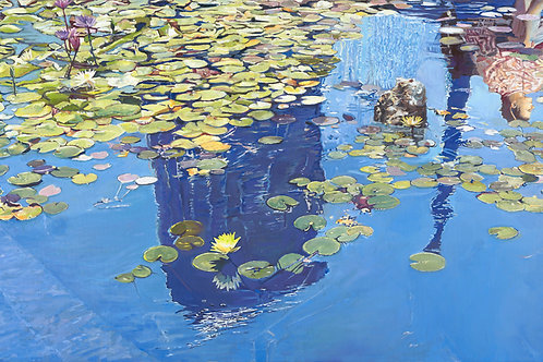 Reflection in a Lili pond_553_170x70cm