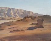 Shai Avivi israeli desert oil on canvas.