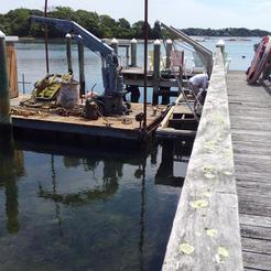 Old dock demolition