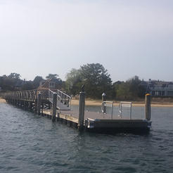 Custom built dock with Aluminum railing
